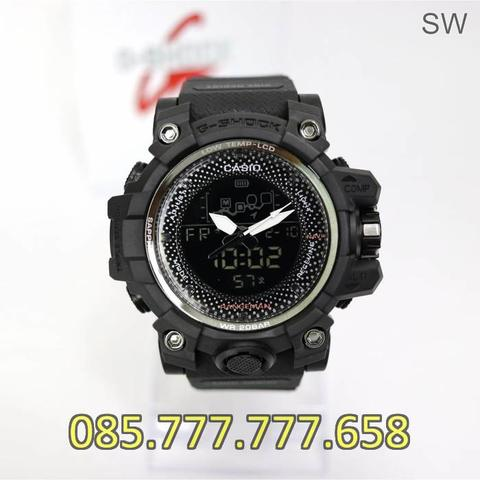 Jam Tangan Pria Anti Air GS 4590 Rubber Full Black