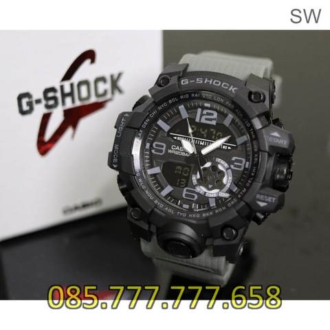 Jam Tangan Pria Anti Air GS GG 1000 Rubber Grey