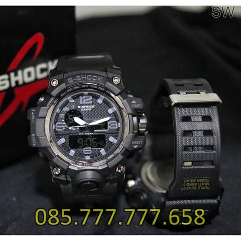 Jam Tangan Pria Anti Air GS GWG 1000 Rubber Black Grey