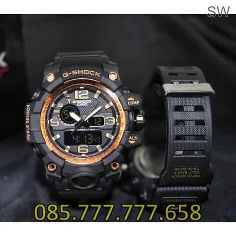 Jam Tangan Pria Anti Air GS GWG 1000 Rubber Black Orange