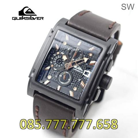 Jam Tangan Pria Quiksilver SK184HB Leather Dark Brown List Rosegold