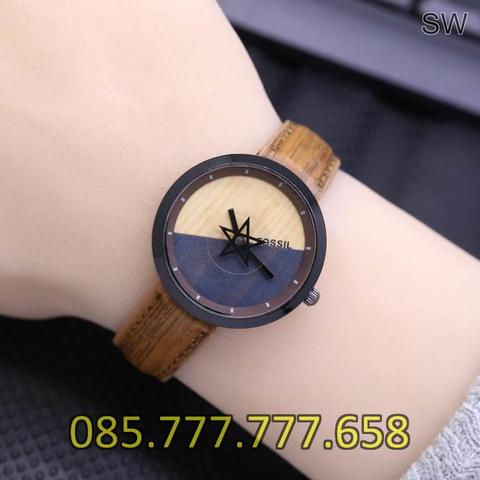 Jam Tangan Wanita Fossil SK577LS Leather Dark Brown
