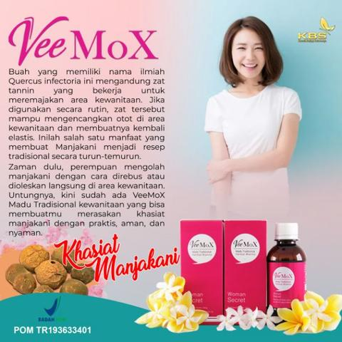 VeeMoX Madu Tradisional Herbal Wanita 250 ml.