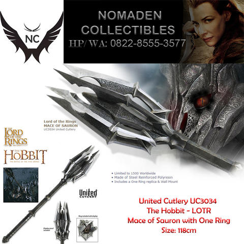 Lord of the Rings Mace Of Sauron With One Ring UC3034 United Cutlery