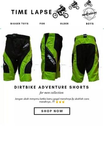 Dirtbike adventure shorts