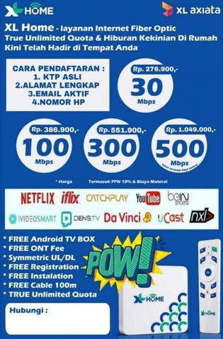 XL HOME internet fiber optik rumahan