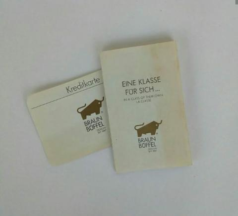 Braun Buffel Original Label Card
