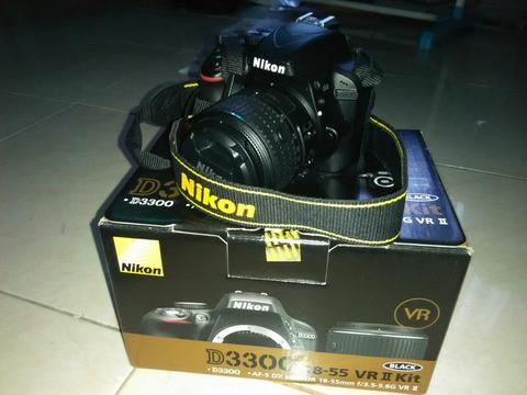 Kamera Nikon D3300 Kit AF-S 18-55mm VR II Second like New