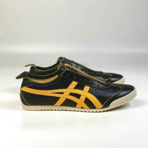 Onitsuka Tiger Mexico 66 Deluxe Black Yellow Cracking