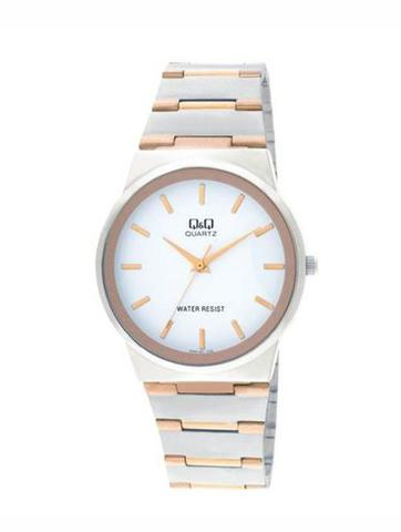 Attractive Q&Q Watch - Jam Tangan Pria - Q398-401Y - Silver - Stainless