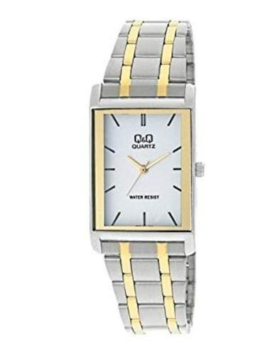 Attractive Q&Q Watch - Jam Tangan Pria - Q432-401Y - Silver - Stainles