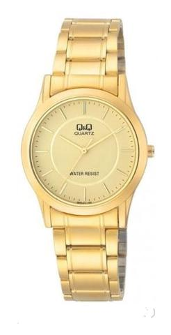 Attractive Q&Q Watch - Jam Tangan Pria - Q684-401Y - Gold - Stainless
