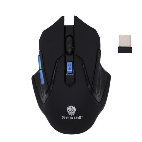 [JoJo CompTech] Rexus Xierra S5 Aviator RX-S5A Blue Ergonomic Wireless Gaming Mouse
