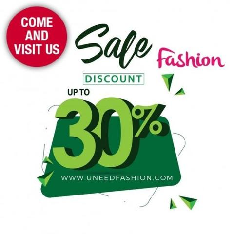 UneedFashion December SALE 30% OFF ON ALL SELECTED ITEMS