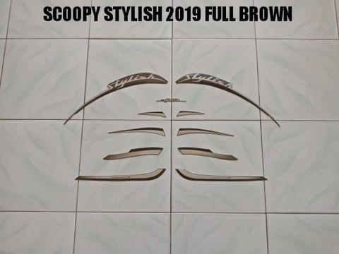 Striping Scoopy Stylish 2019 Full Brown