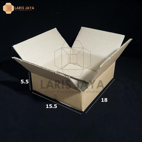 Kardus Packing Polos Isi 25pcs 18 x 15,5 x 5,5 cm