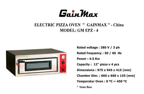 ELECTRIC PIZZA OVEN GM EPZ 4