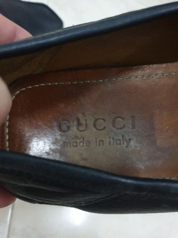 Gucci black leather with web original authentic not hermes bally LV salvatore prada