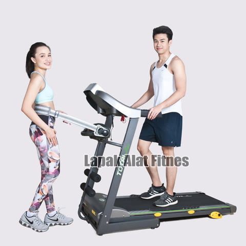 Alat Fitness Treadmill Elektrik Motor 2 HP TL-288 Manual Incline Total Fitness