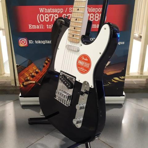 Squier Affinity Series Telecaster Electric Guitar, Maple Fb, Black