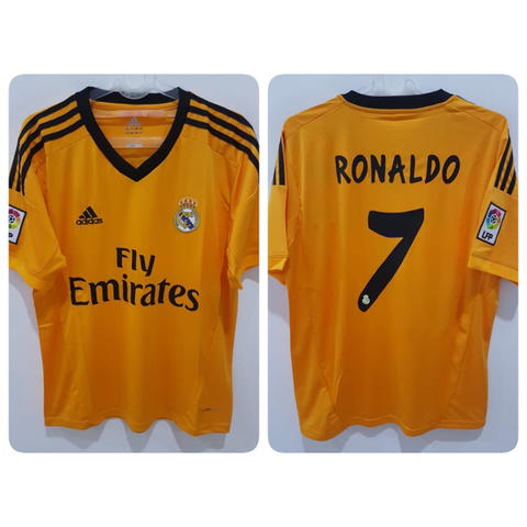Jersey Real Madrid 3rd 2013/2014 name player Ronaldo