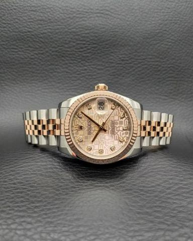 Rolex Oyster Perpetual Datejust Computer Diamond Dial