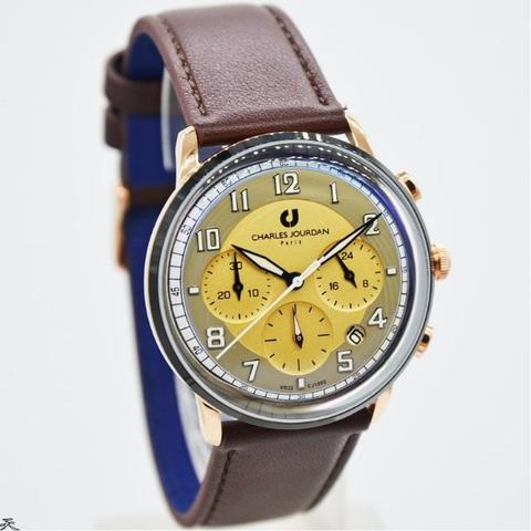 Jam Tangan Pria Charles Jourdan 1095-1545C Leather Kulit Original Murah