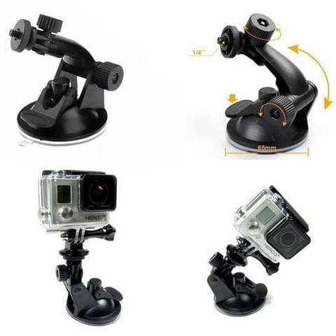 Suction Cup Car Holder Mobil Kamera Aksi Action Cam for GoPro DLL