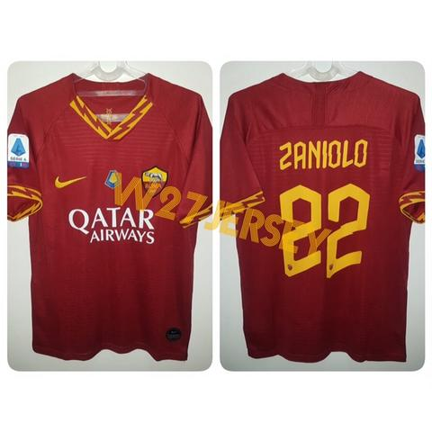 Jersey AS Roma Home 2019/2020 name player Zaniolo + Patch Seri A, MVP