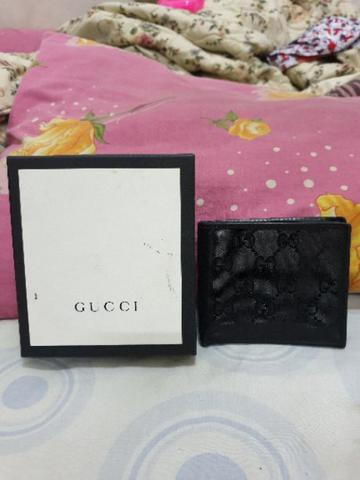 Gucci Black Imprime wallet original authentic not hermes bally salvatore prada