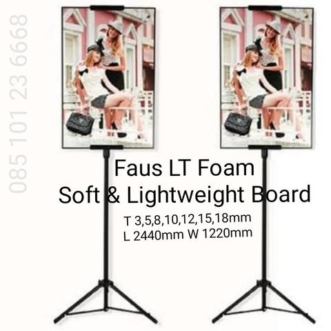 15mm FAUS LT soft & lightweight FOAM BOARD papan busa 244cm x 122cm