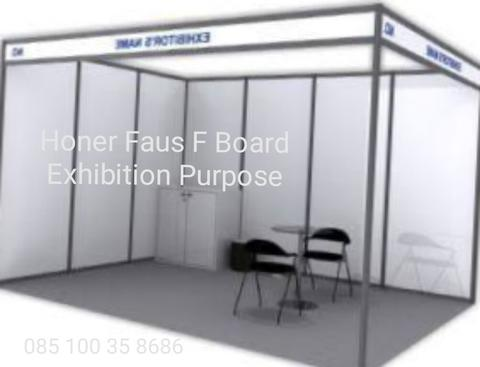 exhibition board skad partisi partition pameran booth stand Honer FAUS F 8'x4'