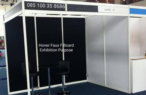 pameran booth exhibition stand skad partition partisi Honer Faus F Board