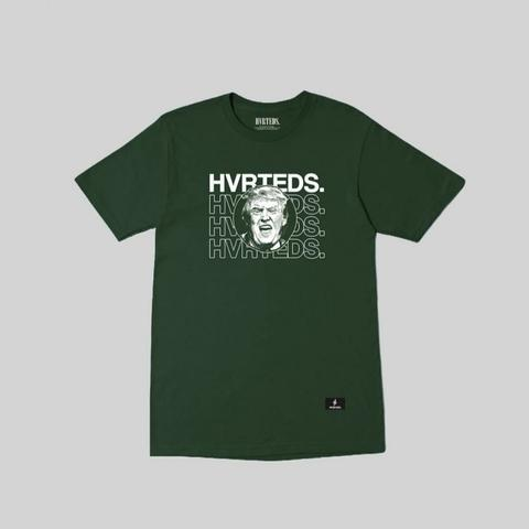 HVRTEDS TRUMP SHORT SLEEVE T-SHIRT GREEN ARMY KAOS PRIA
