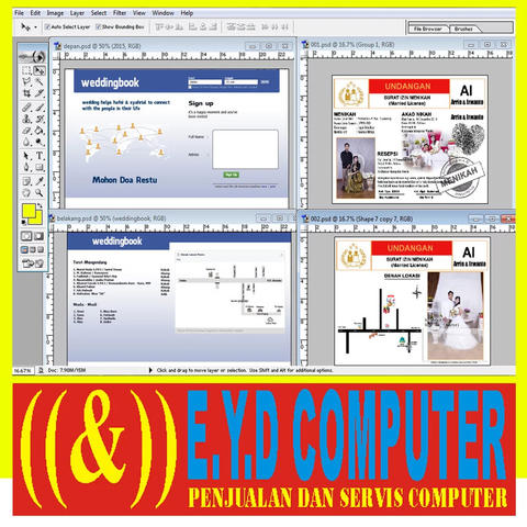 DESAIN UNDANGAN FRAME EDITING PHOTOSHOP DESIGN PERCETAKAN BANNER FILE FORMAT