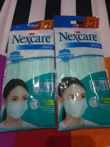 Masker 3M Nexcare Daily isi (3+1) pcs Earloop