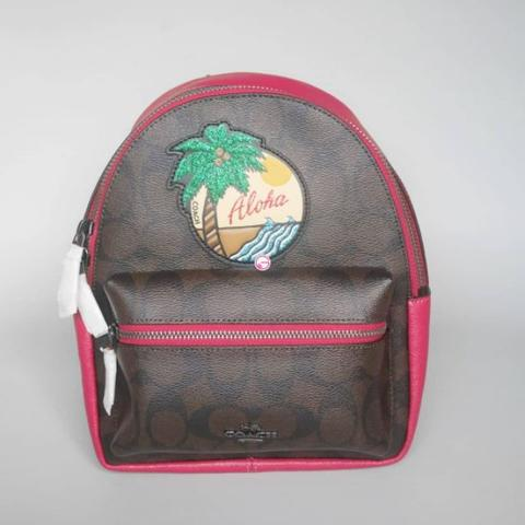 Coach Mini Charlie Backpack Hawaian Patches