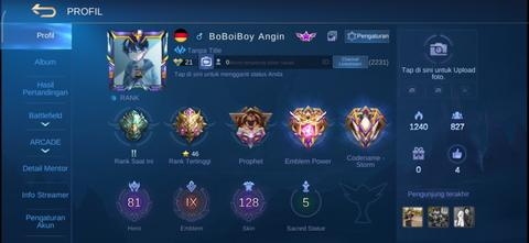 Akun Mobile Legends With Good WR