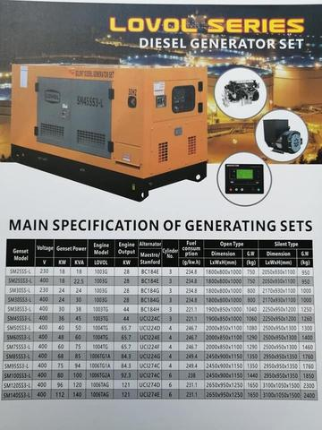 Ready All New Genset Open/Silent
