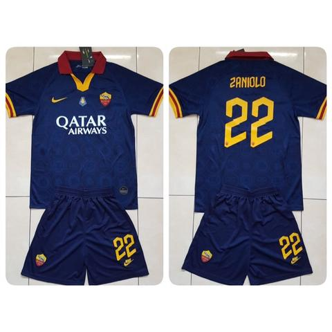 Jersey + Shorts AS Roma 3rd 2019/2020 name player Zaniolo + Patch MVP