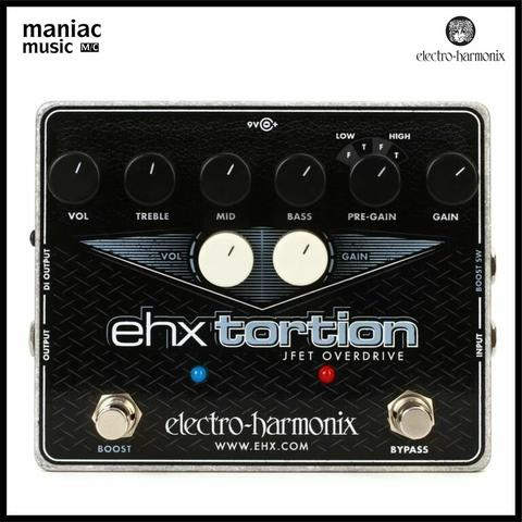 Electro Harmonix EHX Tortion (Efek Gitar, JFET Overdrive, Distorsi, Boost Mode)