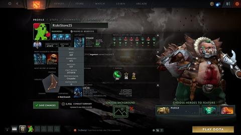 Akun Dota 2 ANCIENT 1 ALL ON MMR 3880