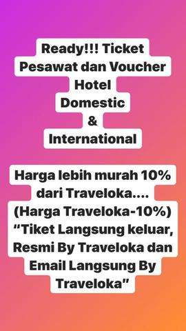 Tiket Pesawat dan Hotel Domestic International