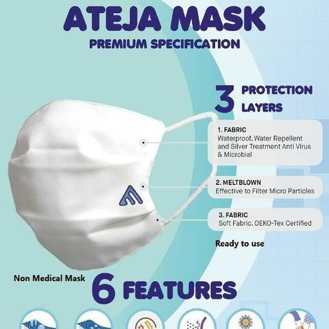 Masker Non Medis : Reusable ,3 Ply with Premium Specification