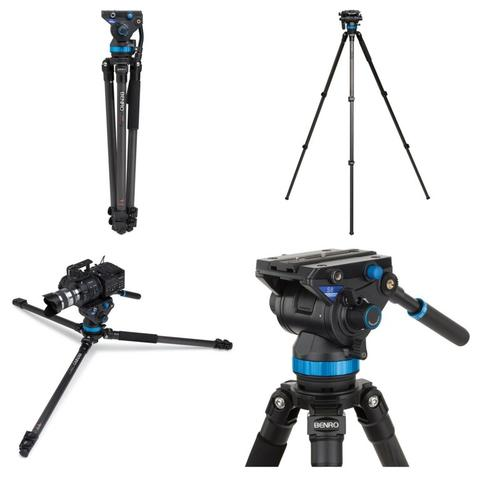 BENRO S8 VIDEO TRIPOD KIT CARBON FIBER (C373FBS8) - LIKE NEW