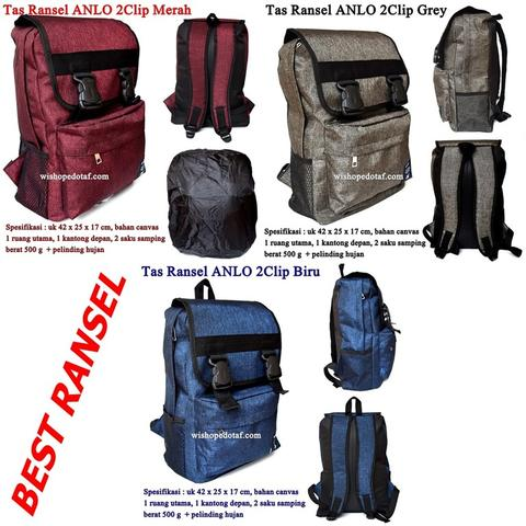 Tas Backpack New Anlo 2Clip