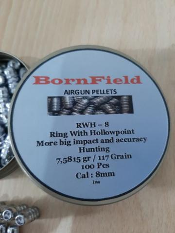 mimis 8mm Ring Hollowpoint Merk Bornfield For PCP, AFC, Gejluk