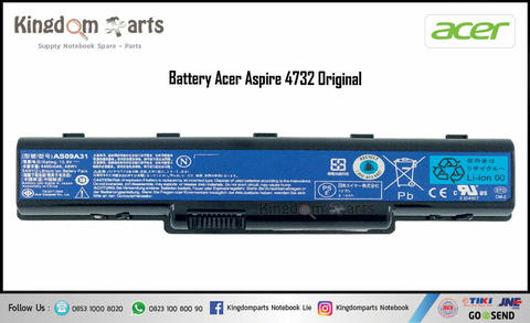 Baterai Laptop Acer Aspire 4732 4732Z D720 AS09A31 AS09A73 Original