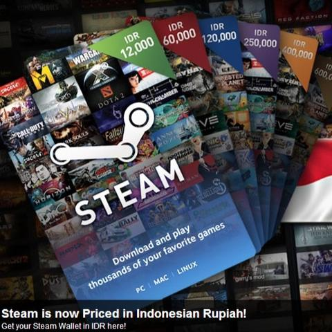 [Gamekun Store] Jual Steam Wallet Code IDR & USD