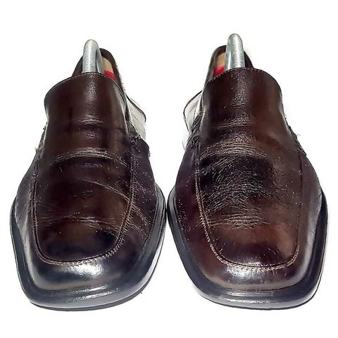 Rottweil Dark Brown Genuine Leather Loafers Dress Shoes 41 42 Sepatu Kulit
